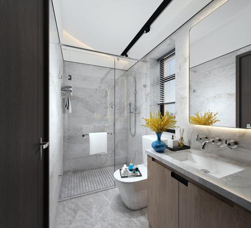 Modernisierungsmaßnahme - Austausch und geänderte Anordnung von Sanitärobjekten im Bad